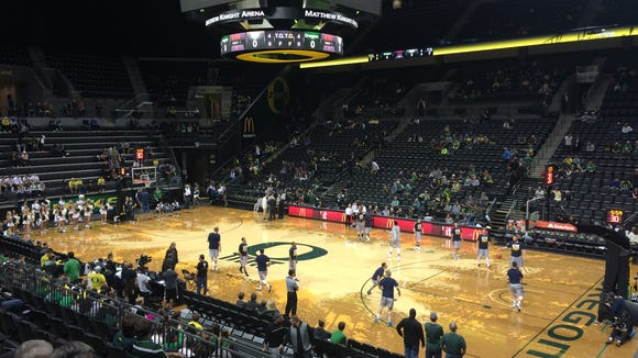 The Ducks open their men's basketball season at Matthew Knight Arena on Tuesday.