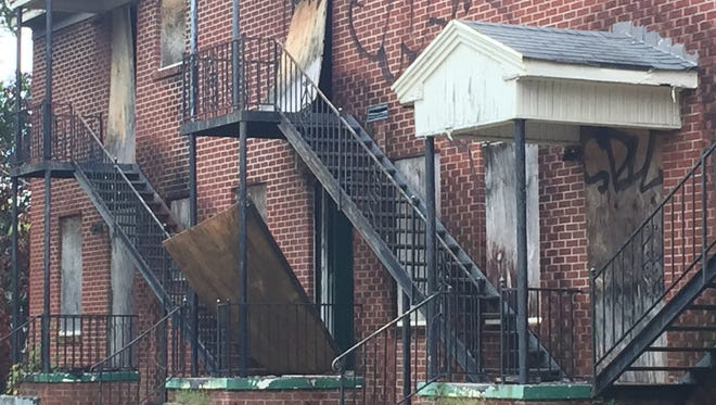 A blighted property near the Salvation Army