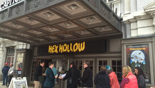 """A line forms outside of the Strand-Capitol Theater on Saturday, Nov. 7, 2015 for  a screening of the documentary """"Hex Hollow: Witchcraft and Murder in Pennsylvania."""""""