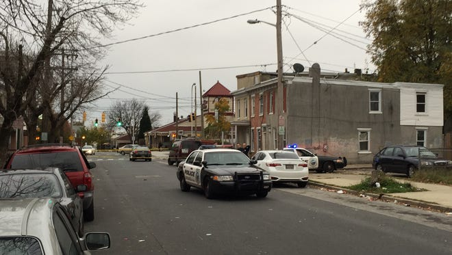 Police respond to reports of a stabbing on North Monroe Street in Wilmington on Saturday afternoon.