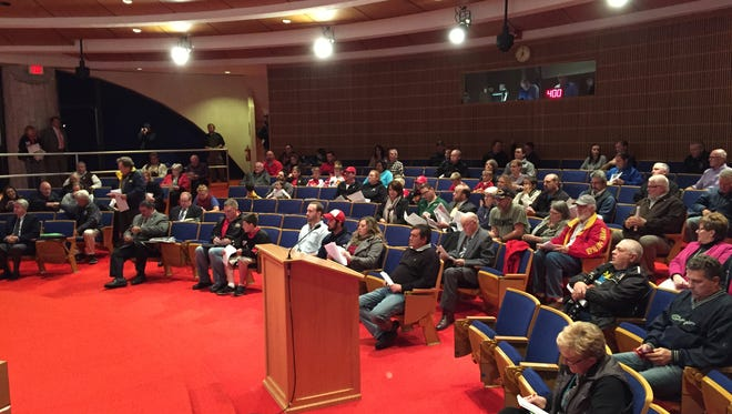 Residents filled up much of the meeting chamber during the Port Huron City Council meeting Monday.