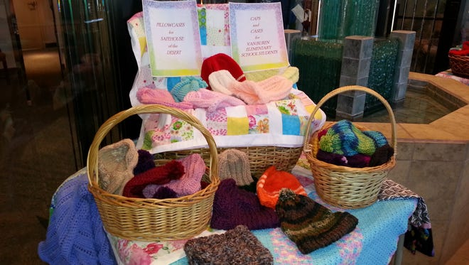 Handmade caps, pillowcases and coverlets are some of the items Hope Lutheran Church members created and dedicated in October in service to people in need.
