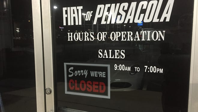 The Fiat of Pensacola dealership located at 6300 Pensacola Blvd. appears to have closed.