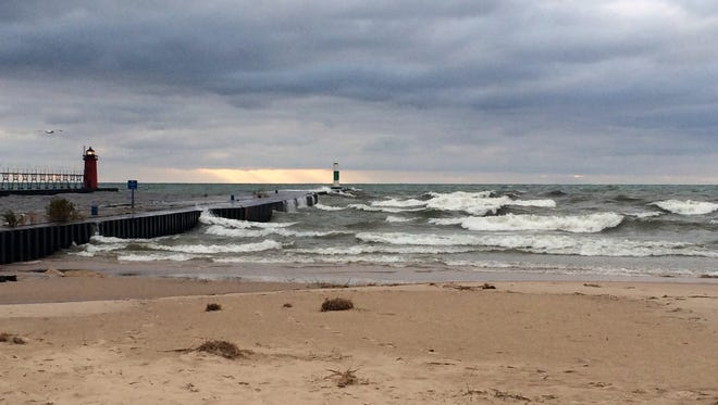 Waves on Lake Michigan at South Haven's North Beach, Nov. 6, 2015.