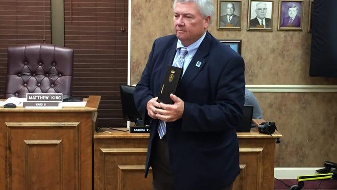 Fountain Inn Mayor Gary Long was honored at his final City Council meeting Thursday.