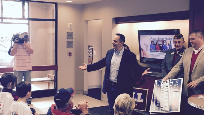 Bevin addressed supporters in Northern Kentucky the day before the Nov. 3 election