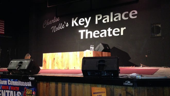 Key Palace Theater's (123 S Meridian St., RedKey) renovated stage.