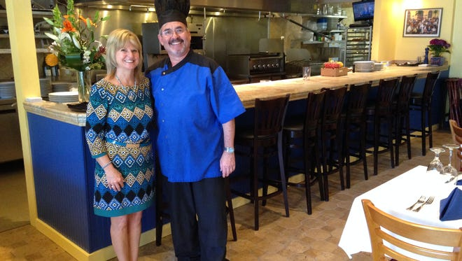 Chef Christian Vivet and his wife, Mari, own Bleu Rendez-Vous French Bistro.