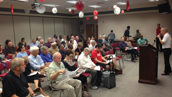 """About 80 people from various communities in Lee County attended the fourth """"Pennies for Community Progress"""" event at The News-Press on Saturday."""