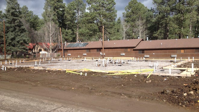 The foundation has been poured for Ruidoso's first senior care center since the Ruidoso Care Center closed. It's on Vision Drive near the Upper Canyon. That's the back side of Shadow Mountain Lodge behind the site.