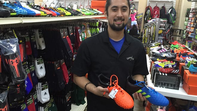 Goody's sporting goods sales associate and supervisor John Formoso helped the Iran men's national football team find their footing for their match against Guam. Formoso sold Iran 20 pairs of turf cleats over the weekend.
