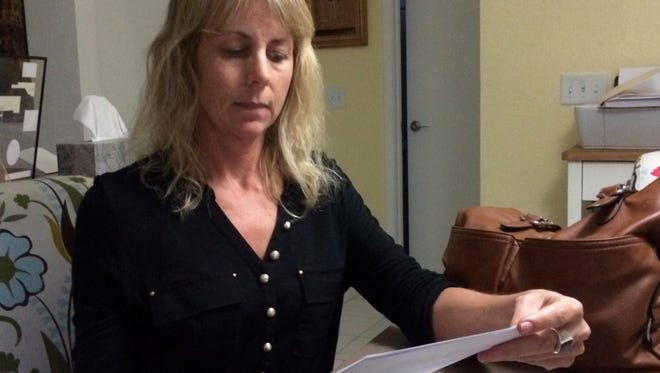 Suzanna Quintana, 47, of Gilbert. She says her ex-husband used LifeLock to secretly stalk her financial moves for years after their divorce.