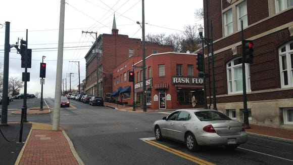 The intersection at Augusta and Frederick streets in