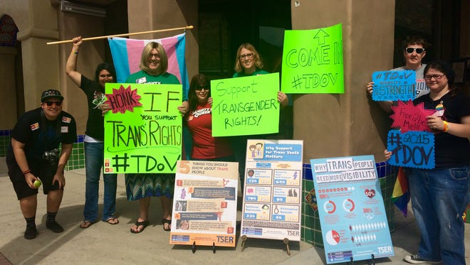 Transgender people and allies celebrated the Transgender Day of Visibility on March 31, 2015.