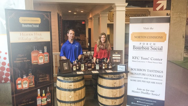 Denny Potter, Heaven Hill master distiller and Marilyn Osborn Patterson, general counsel and marketing director for Norton Commons.