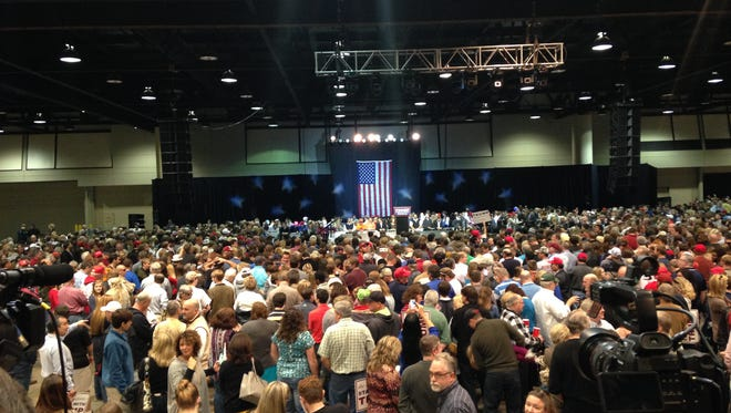 About 6,000 gathered for a Donald Trump rally in Birmingham Saturday, Nov. 21.