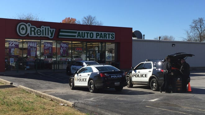 Police say a truck was stolen from outside of O'Reilly Auto Parts on Sunday morning.