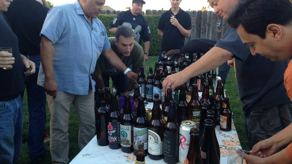 Backyard beer tastings are a great way to try many