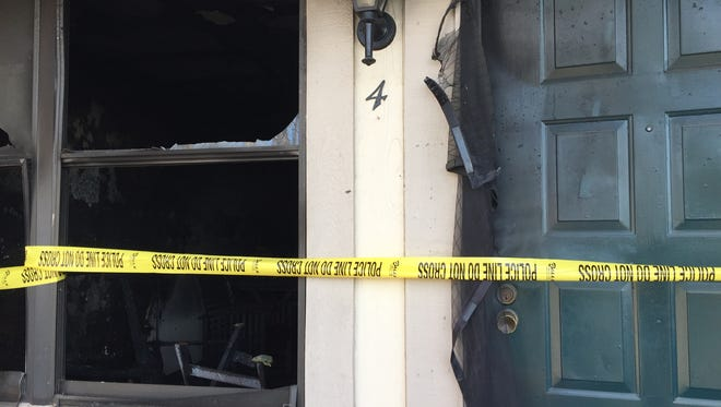 Neighbors busted down the door Monday to save the man, Michael Flamingo, who was inside. Flamingo died in the fire.