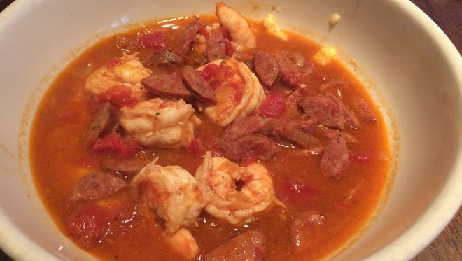 Shrimp and grits at Doc Crow's in Louisville