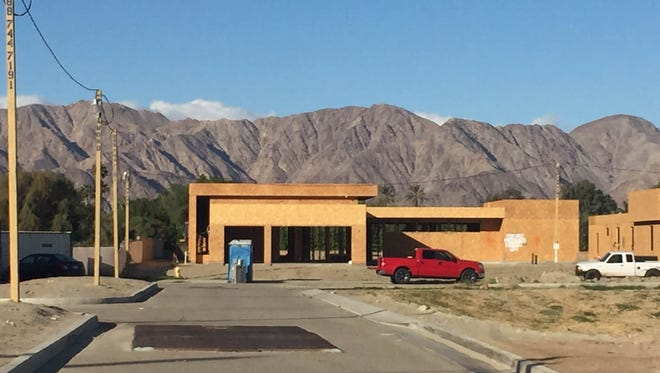 The Orchard, a new 11-home neighborhood at the southeastern edge of La Quinta.