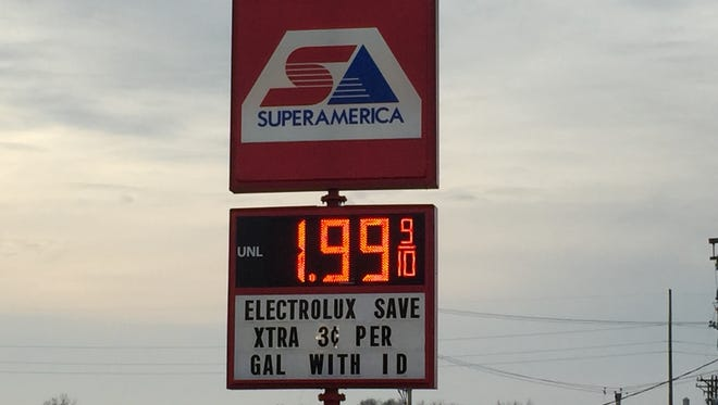 The gas price in St. Cloud at the 33rd Avenue and 7th Street location.