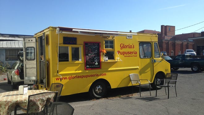 The food truck Gloria's Pupuseria has opened up in downtown Staunton near Lewis and Baldwin streets.
