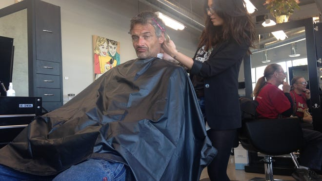 Public Image in downtown Phoenix offered free haircuts to the homeless Nov. 27, 2015.