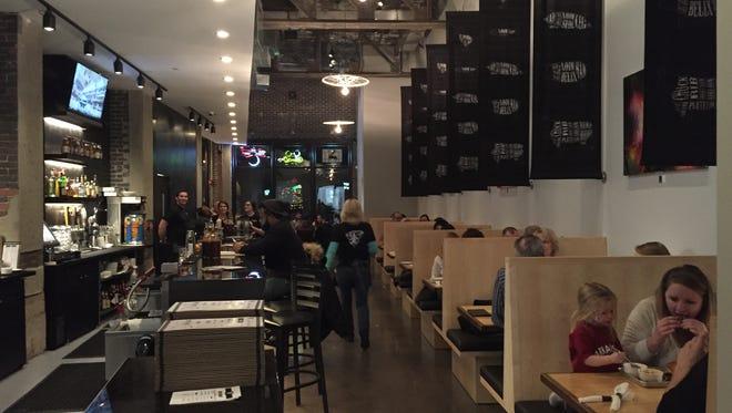The bar area at Guru BBQ.
