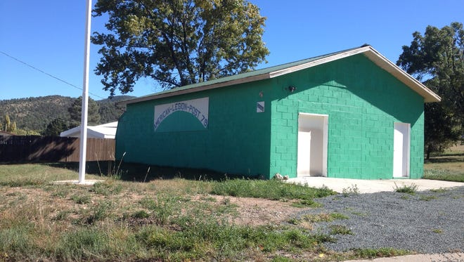 Title to this now-vacant clubhouse is the subject of a lawsuit between the local American Legion post and its ladies auxiliary.