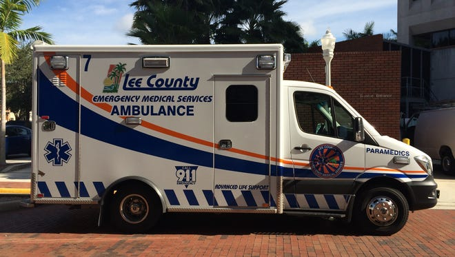 Ambulance for Lee County EMS.