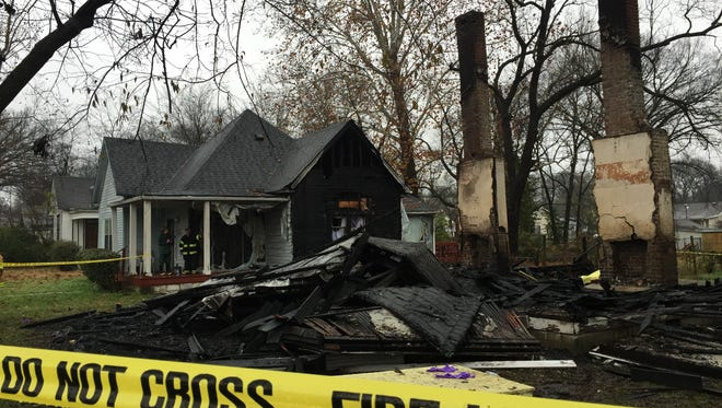 A body was found in a home at 907 N. Second St. as firefighters battled a blaze early Tuesday morning.