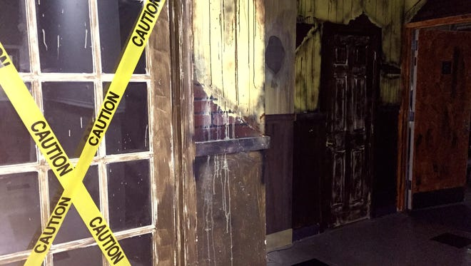 The entrance to Trapped PHL, an escape-room game in Philadelphia, puts up a forbidding front.