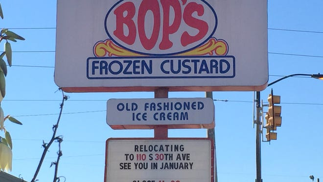 The sign at the Bop's location at the corner of Hardy Street and 34th Avenue announces the relocation to a building closer to the University of Southern Mississippi.