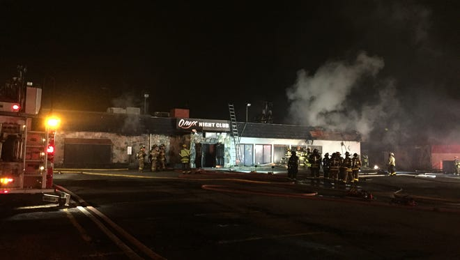 A fire gutted the Onyx Night Club on Mt. Read Blvd. on Friday night. The property straddles the Greece/Rochester border.