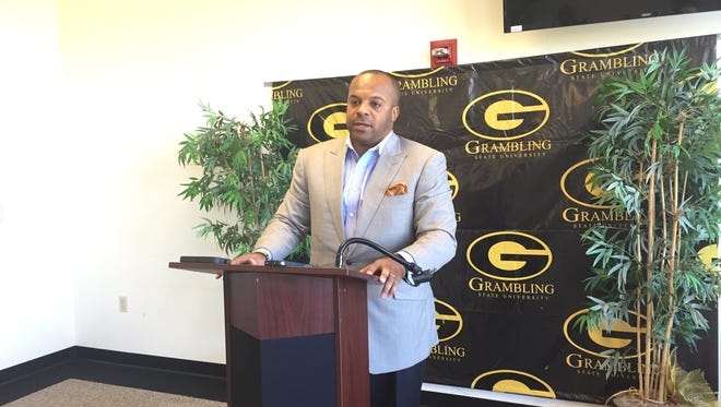 Grambling coach Broderick Fobbs met with the media Monday for the final time of the 2015 season.