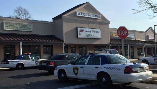 A township police officer was struck in a hit-and-run crash Tuesday at the DMV.