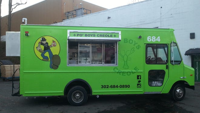 The bright green Po' Boys truck debuts this month.