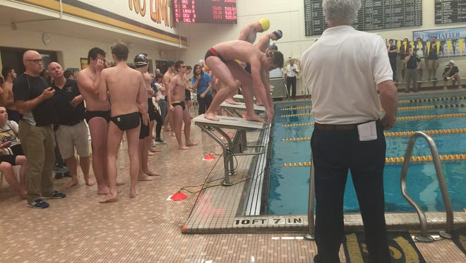 Greater Lansing-area swimmers prepare for an event at the annual Howard Comstock Waverly Relays.