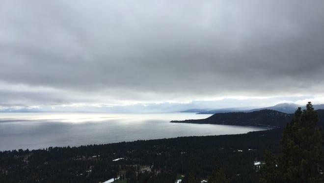 Weather bears down on Lake Tahoe on Wednesday, Dec. 9, 2015.