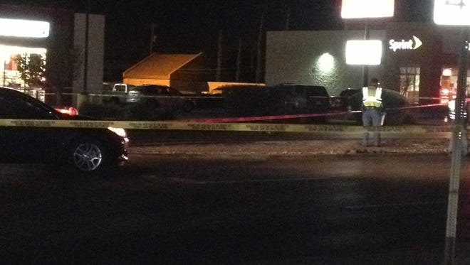 El Paso police investigate a fatal pedestrian accident Thursday night on Dyer Street.