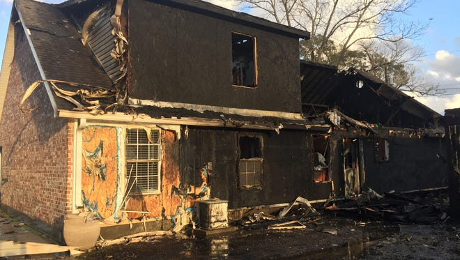 This home in the 1000 block of South Main Street burned Friday.