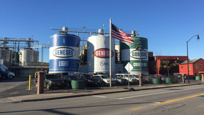 These three tanks along St. Paul Street would be demolished as part of a Genesee Brewery upgrade.