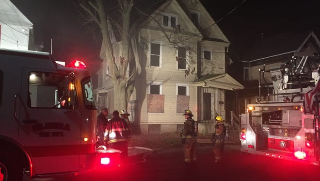 A fire broke out Sunday night at 313 W. Gray St. in Elmira.