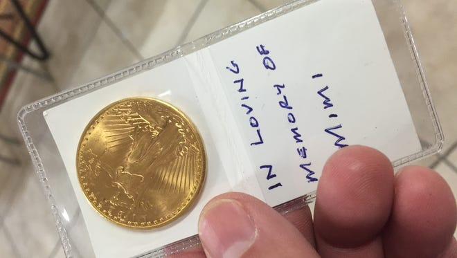 For the 11th year, an anonymous donor has slipped a $20 Liberty Eagle gold coin in a Salvation Army red kettle