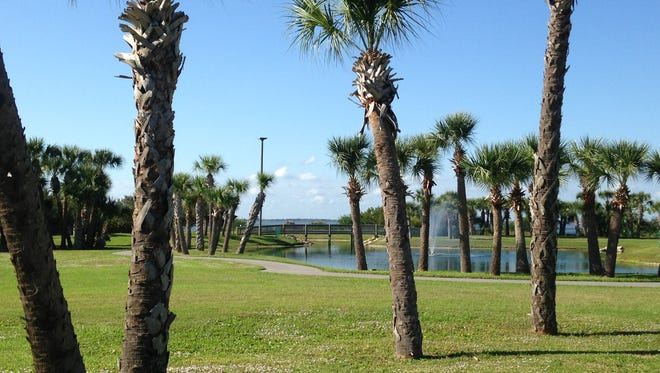 Manatee Sanctuary Park in Cape Canaveral offers a walking and running trail with exercise stations, a riverfront viewing deck and more.