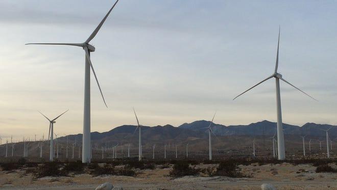 Coachella Valley windmills along Interstate-10.