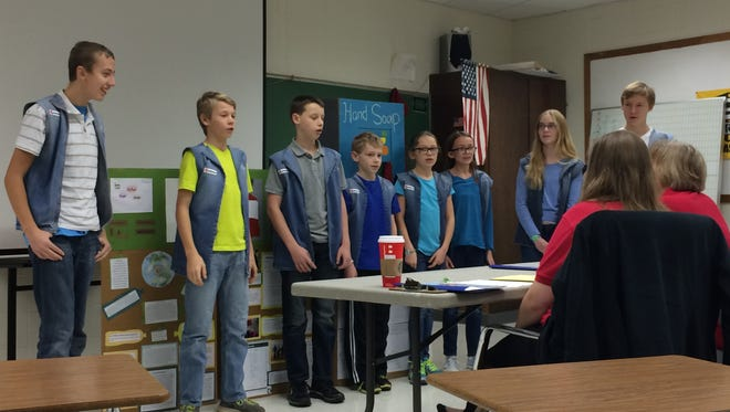 The Bottle Savers 4R World, an FLL robotics team from Manitowoc County, advanced to the state level of competition last weekend in Appleton.