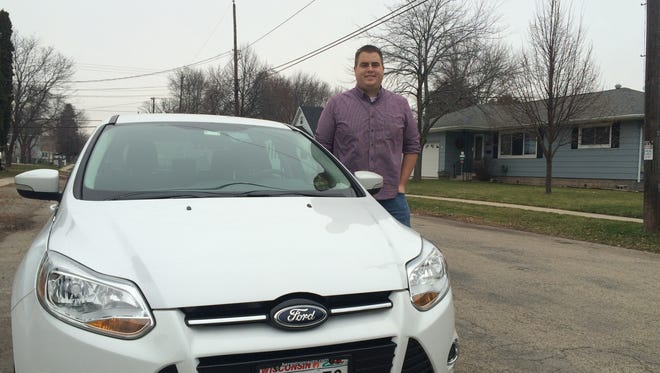 Chase Mitchell, recently signed on to drive for Uber, a rideshare service that recently announced it would operate in Oshkosh, Fond du Lac, Janesville and Beloit.