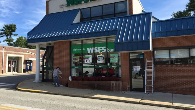 An Alliance branch being converted to WSFS. The Alliance acquisition fueled WSFS' fourth-quarter growth.
